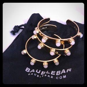 Gold pearl bangle brackets (set of 3)